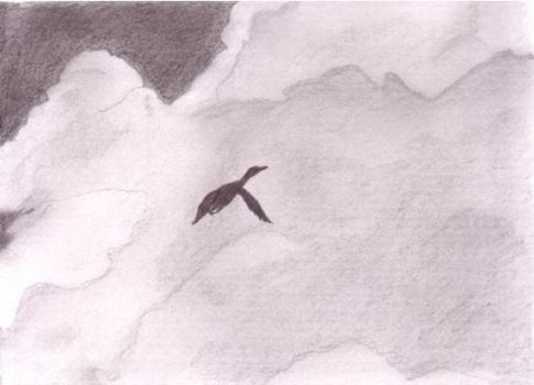 Duck in the Clouds by SketchingGirl