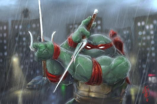 Raphael - thedarkcloak by tmntart