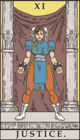 Street Fighter Tarot - Justice by SayIanIanIan
