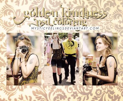 Psd Golden Kindness by mysticfeelings