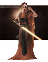 Winter Avalon Jedi Knight by KaelaCroftArt