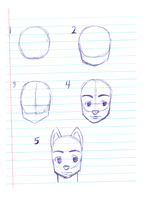 How to Draw Anthro Head Part 2 by AnthroArtSchool