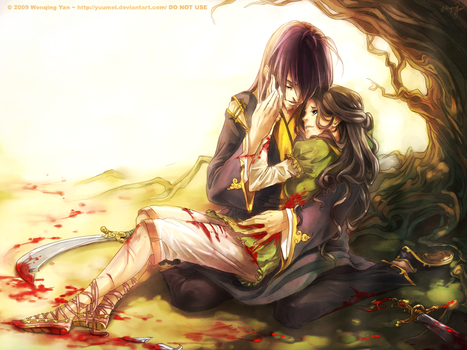 Azrel and Lisa Commission by yuumei
