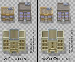 Rustboro City Tileset by SailorVicious