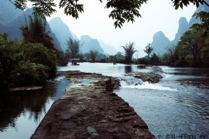 Yangshuo - Surrounded by turquoise-truck