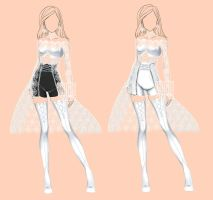 [closed] Auction White Rose Adopt Outfit by YuiChi-tyan