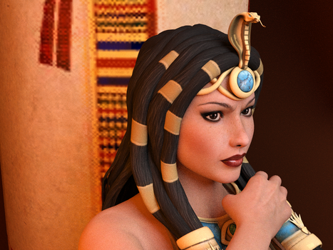 Queen Cleopatra of Egypt by Odin3DArts