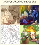 swhich around meme 2x2 collab by shayxy