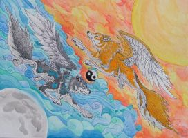 Sun And Moon Elemental Wolves - 0425