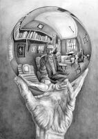 Hand with Reflecting Sphere by Curlie-11