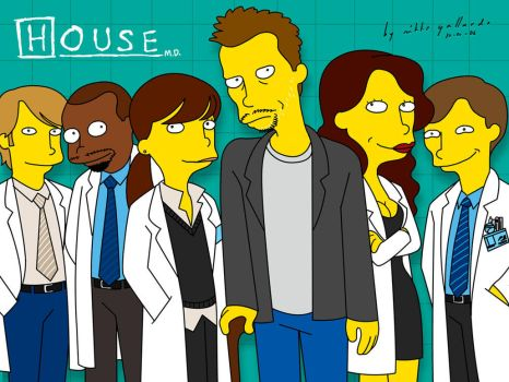 House M.D. Simpsonified by mikkegallardo