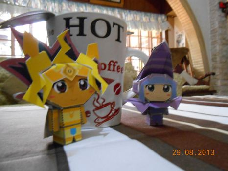 Hot papercraft Pharaoh and DM by dm17fox