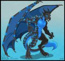 Anthro Dragon - Commission by DrakainaQueen