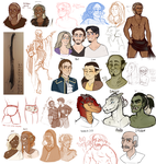 DnD| Sketch Dump IIII by RomyvdHel-Art