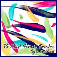 Paint Stroke Brushes by mcbadshoes