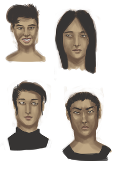 20170215 Faces Practice by tennysonwu
