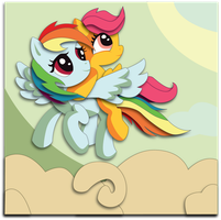 Commission: Rainbow Dash and Scootaloo by The-Paper-Pony