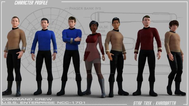 Forrestal: TOS Enterprise Command Crew by KhambattaProject