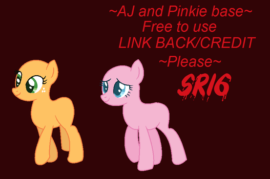 AJ and Pinkie base by SuperRosey16