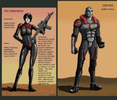 Destro and the Baroness by MJFCreations