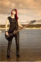 Bassist and her Lake by SirK13