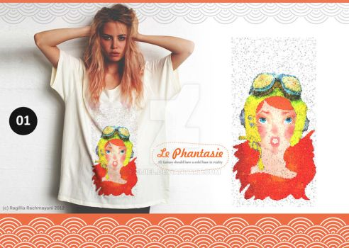 Le Phantasie, Illustration Tshirt by Eijiel