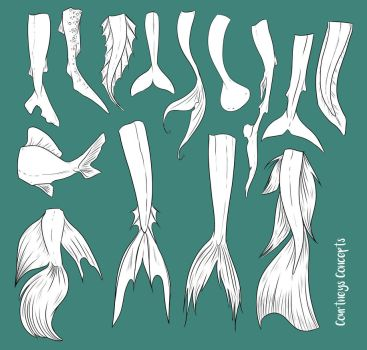 F2U - Mermaid Tail Reference by CourtneysConcepts