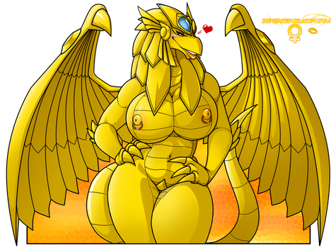 The Winged dragoness of Ra by wsache007
