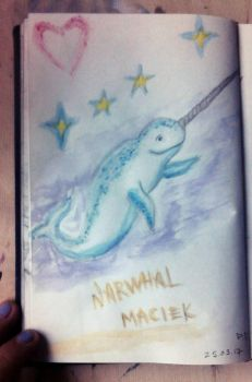 Narwhal M (quick sketch) by PeteDamian