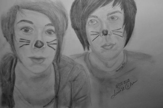 AmazingPhil and Danisnotonfire by Lowse
