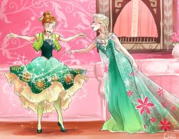 Frozen Fever by a-zebra-was-here
