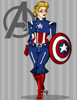 Captain America: Stephanie Rogers by labrattish