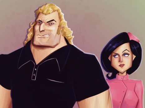 Brock Samson and Dr Girlfriend by clc1997