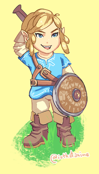 Chibi BOTW Link by Phinnimonster