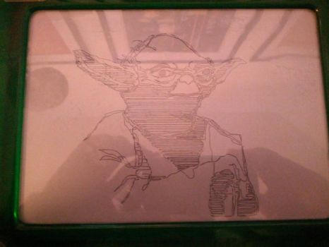 Etch A Sketch Yoda by theangrybuddha