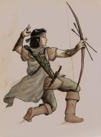 Dark haired Legolas colored by Armel