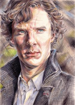 Benedict Cumberbatch as Sherlock by lilhydra