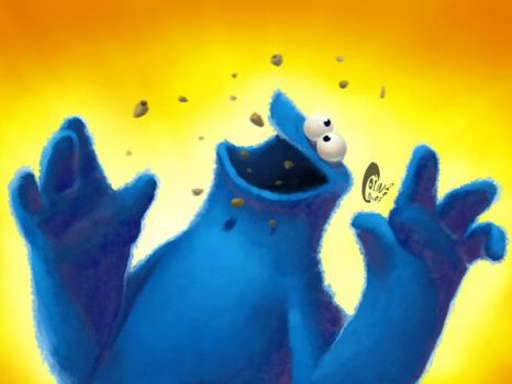 Cookie monster -wallpaper- by Penril