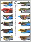 Curtiss P-40 personal nose arts 1 by Alan-the-leopard