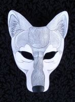 Arctic Wolf Mask by merimask