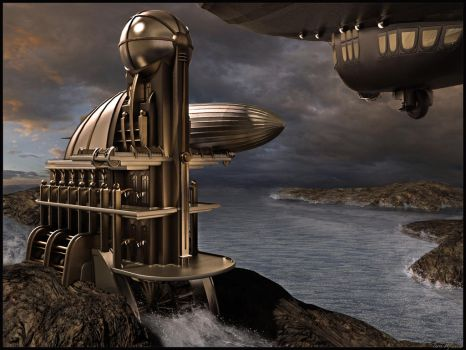 Airship Station Building 1 by Alanise