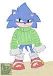 Daily sketch - N026 - 2/2 Sexys y cutes Sonics by PezAdriArts