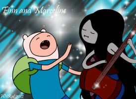 Finn and Marceline- Colored by HNRat