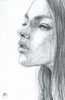 Bw Portrait Sketch1 by shelaghcully