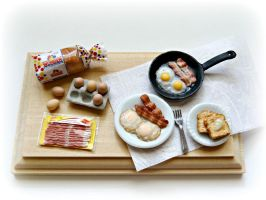 Eggs, bacon and toast breakfast ! by minivenger