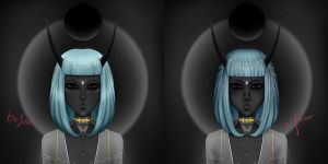New Demon Girl Difference by SythraNightshade