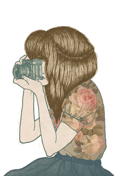 'Girl With Camera' Vintage Doll PNG by littlemisswonderful