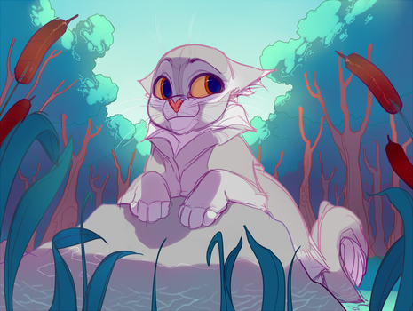 Graystripe in the River by maryvirgin