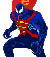 Venom Superman by I-Am-So-Original
