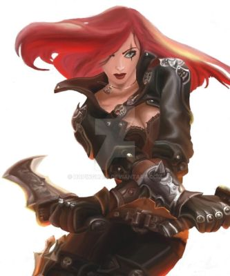 LOL: Katarina Colored Final by HopingHani